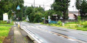 川谷地区のとある道路